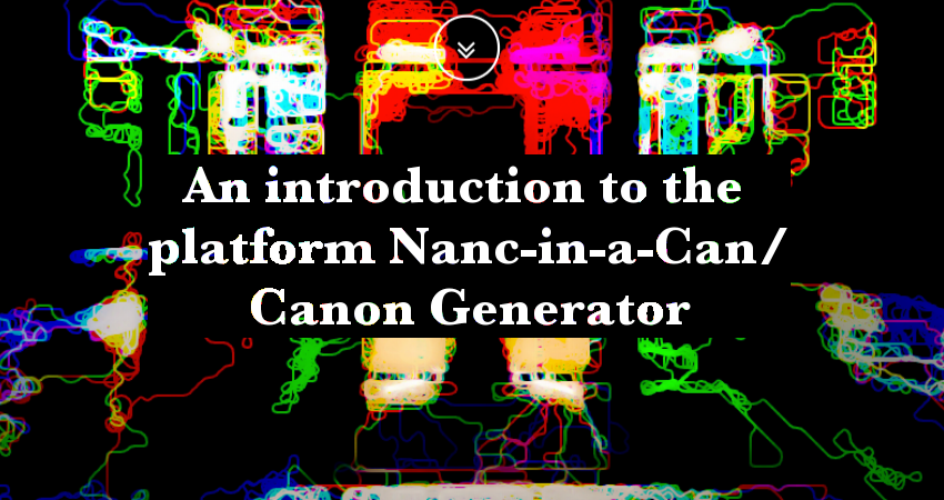 An introduction to the platform Nanc-in-a-Can/Canon Generator