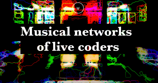 Musical networks of live coders